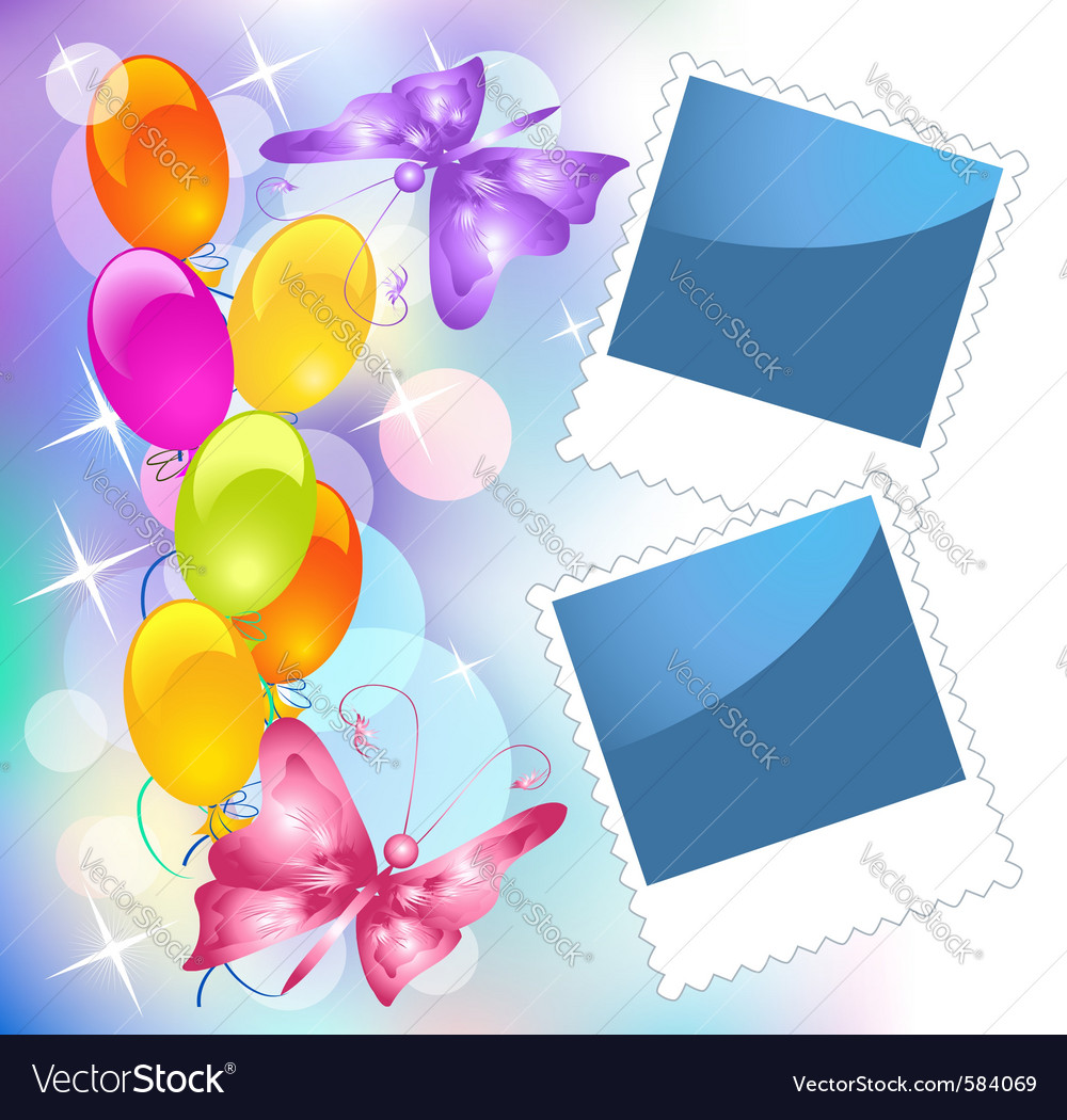 Birthday frames vector | Price: 1 Credit (USD $1)