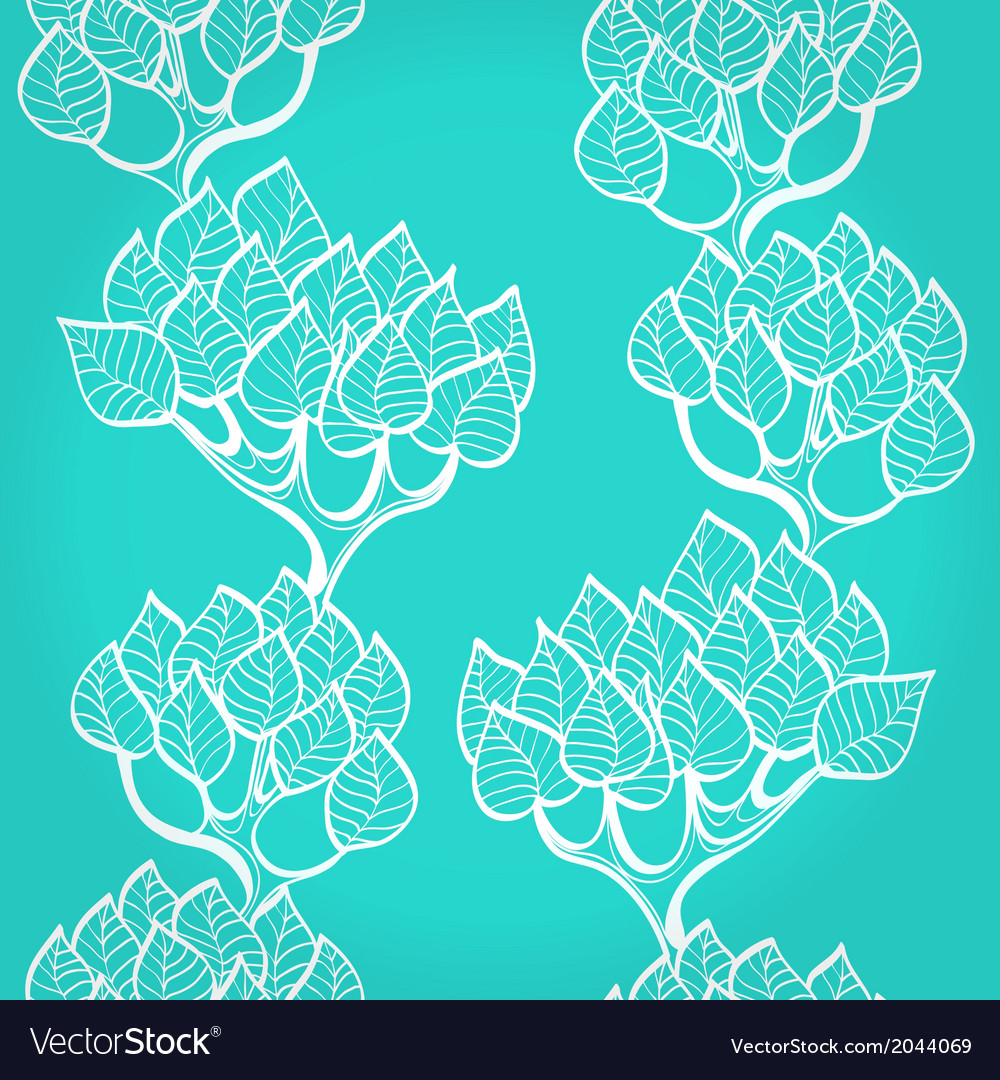 Blue background with trees vector | Price: 1 Credit (USD $1)