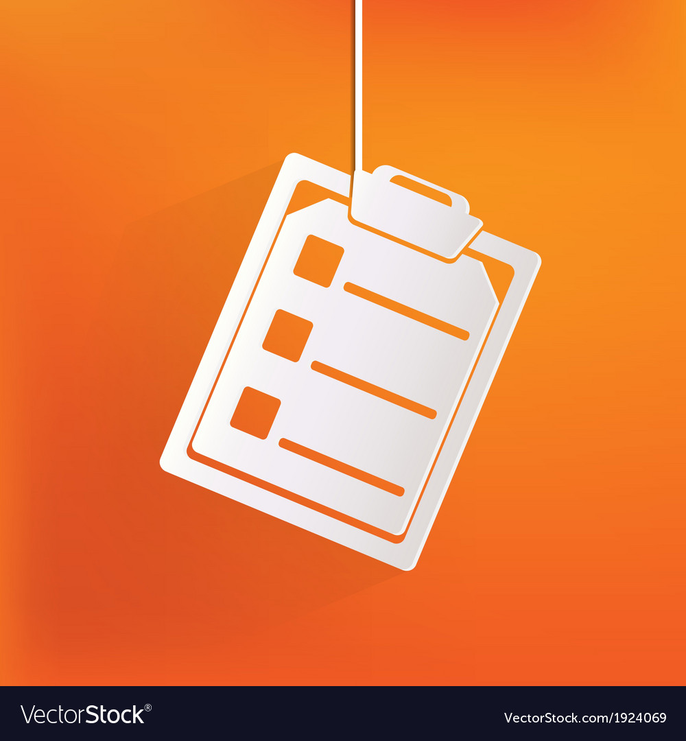 Clinical reportmedical data icon vector   Price: 1 Credit (USD $1)