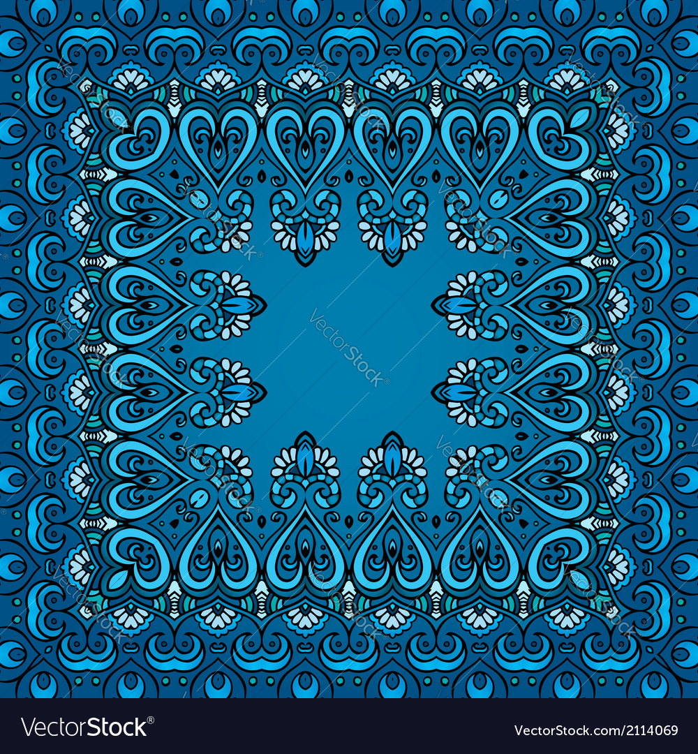Decorative abstract square pattern vector | Price: 1 Credit (USD $1)