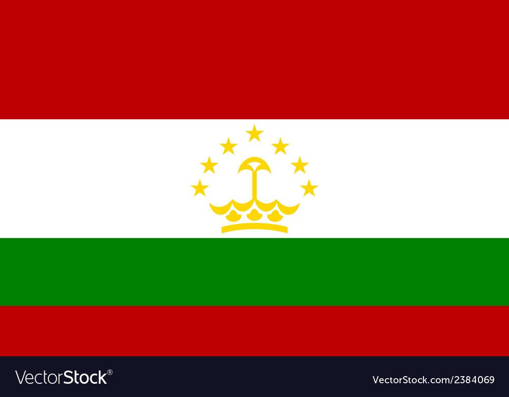 Flag of tajikistan vector | Price: 1 Credit (USD $1)