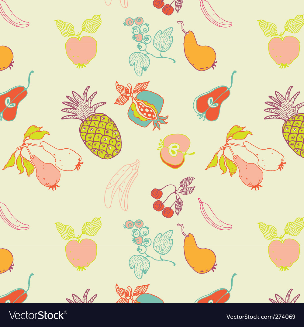 Fruit seamless pattern vector | Price: 3 Credit (USD $3)