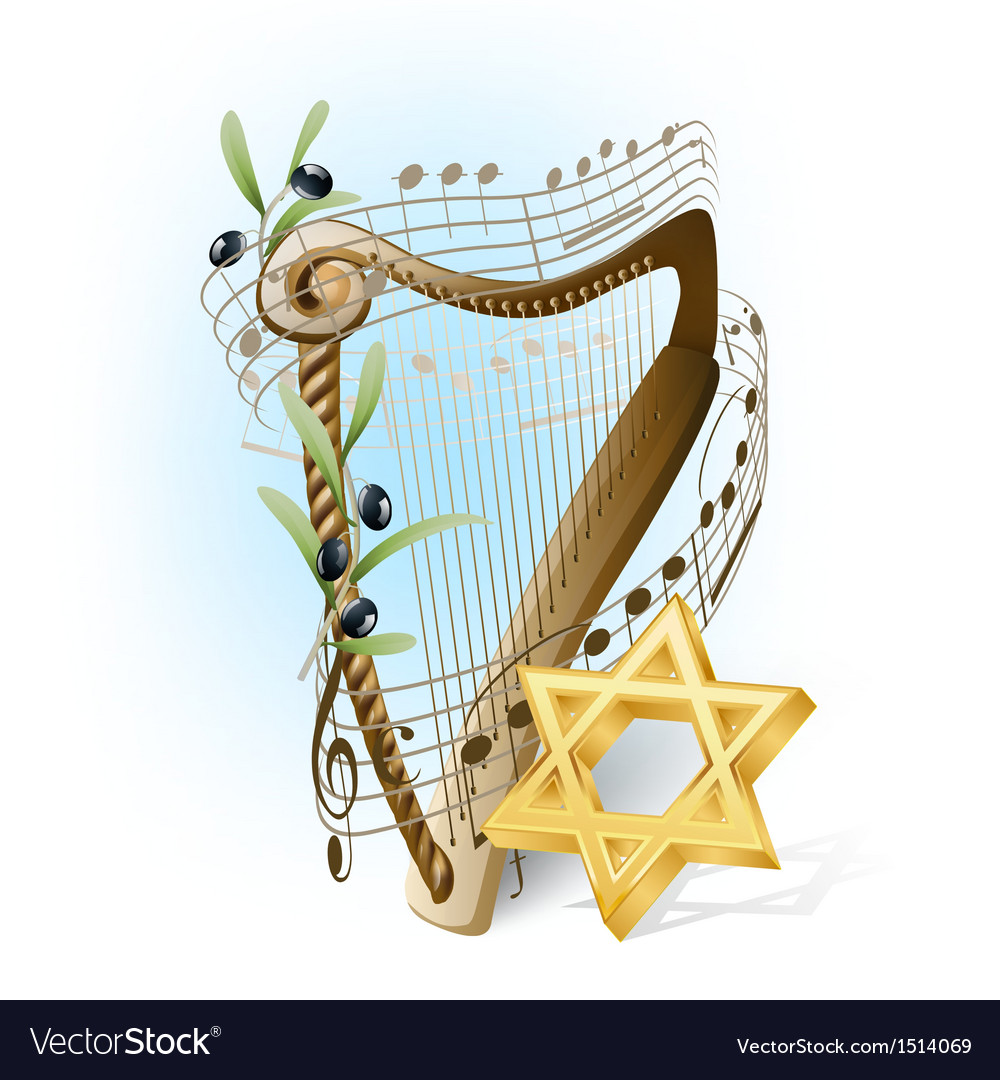 Harp of david vector | Price: 3 Credit (USD $3)