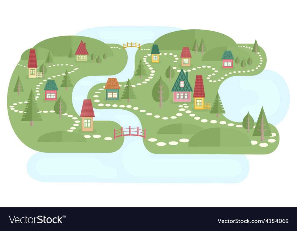 Map with fairyland vector | Price: 1 Credit (USD $1)