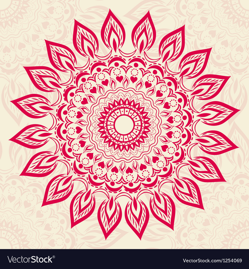 Ornamental round pattern vector | Price: 1 Credit (USD $1)