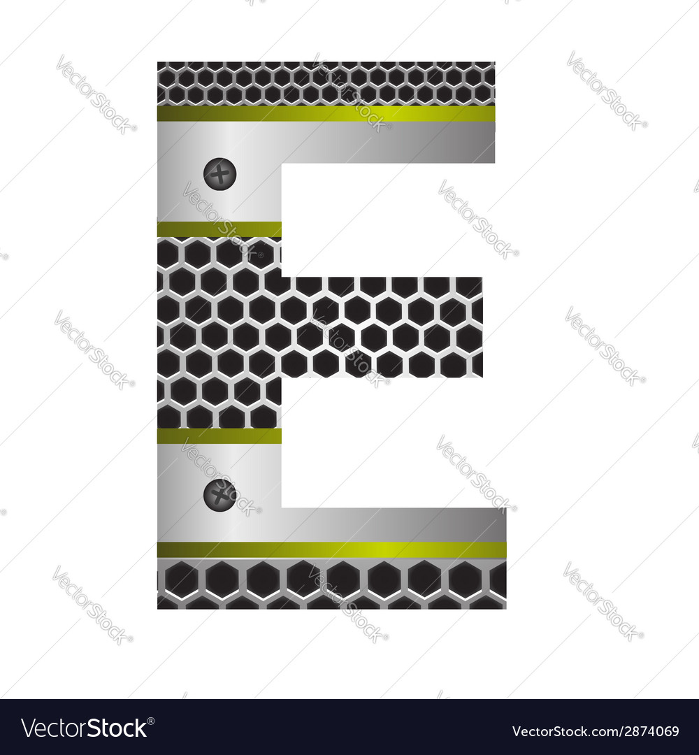 Perforated metal letter e vector | Price: 1 Credit (USD $1)