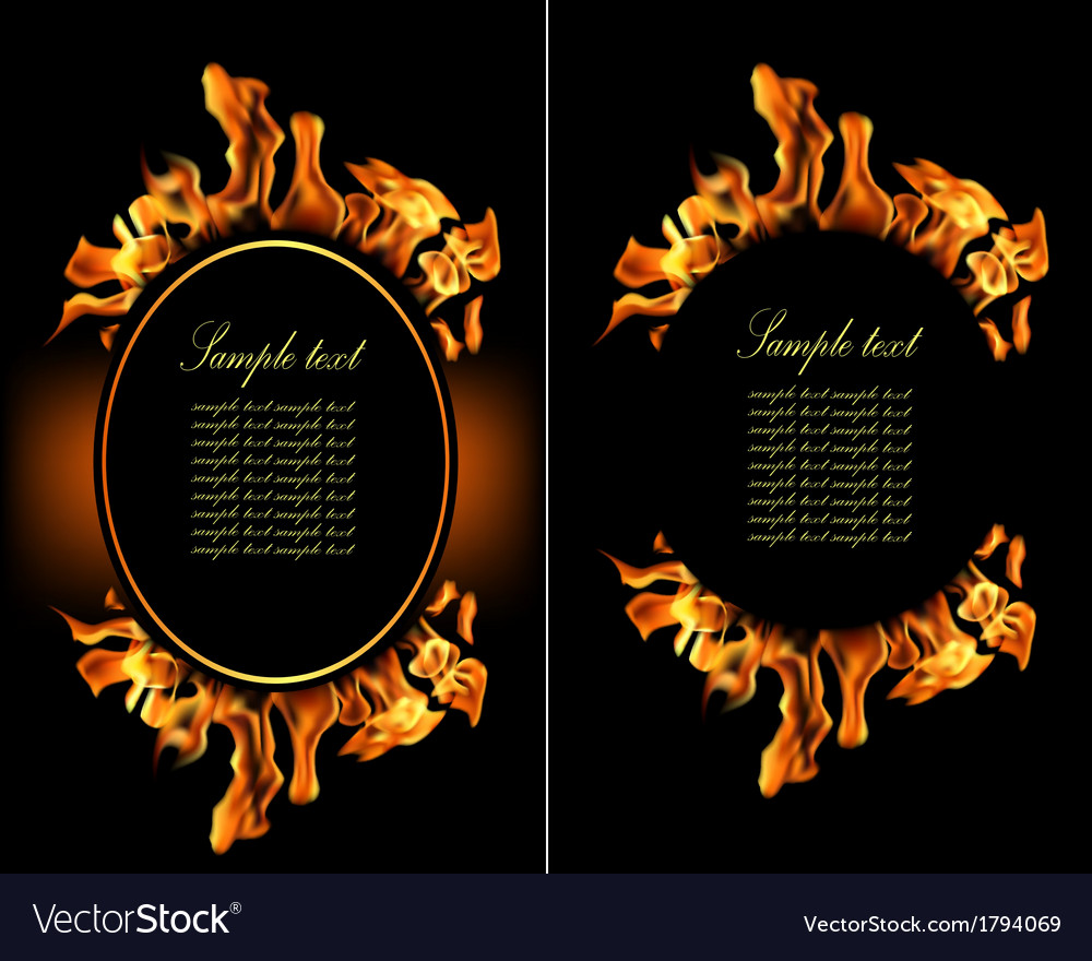 Set of fire flame banner vector | Price: 1 Credit (USD $1)