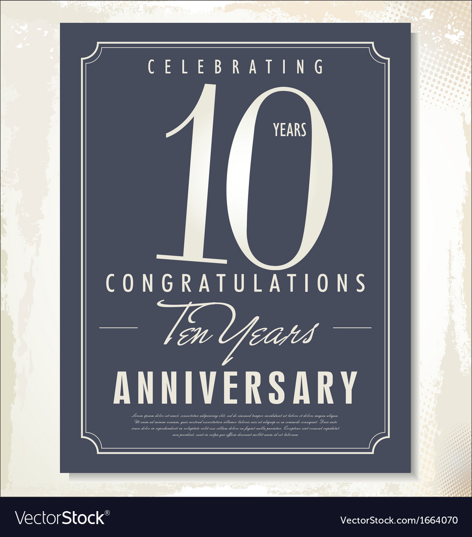 10 years anniversary background vector | Price: 1 Credit (USD $1)