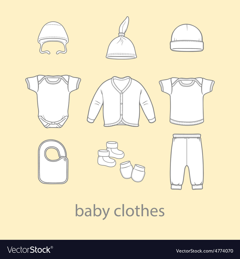 Baby fashion clothing fashion shirt design wear vector | Price: 1 Credit (USD $1)