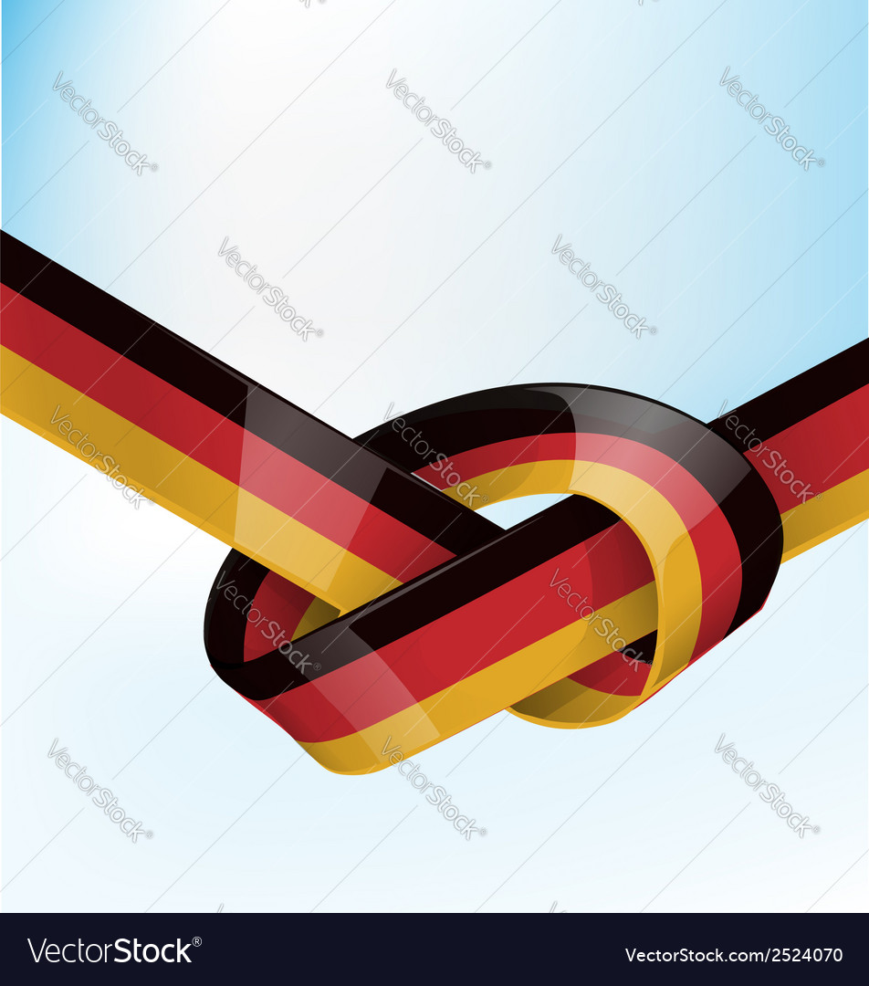 Germanic ribbon flag on sky background vector | Price: 1 Credit (USD $1)