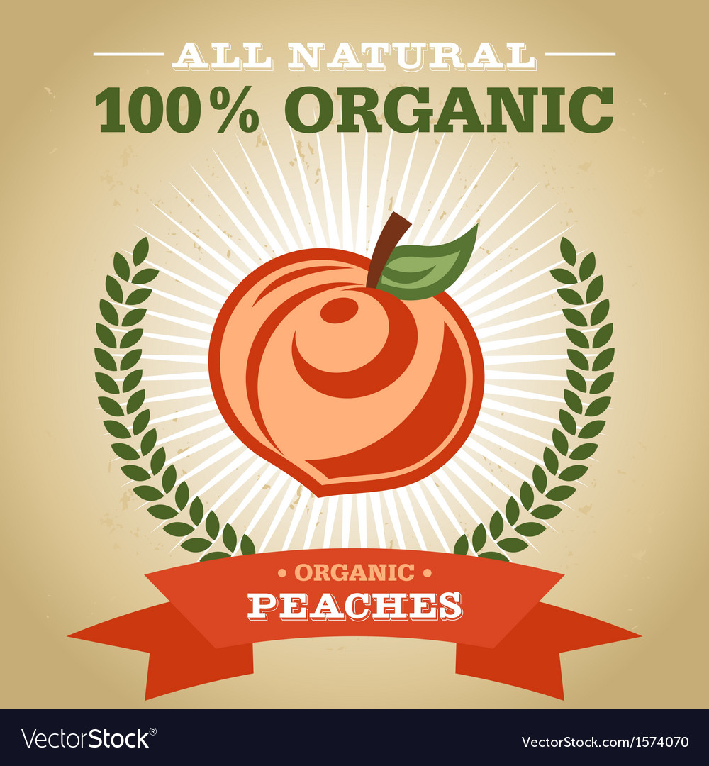 Organic peach vector | Price: 1 Credit (USD $1)