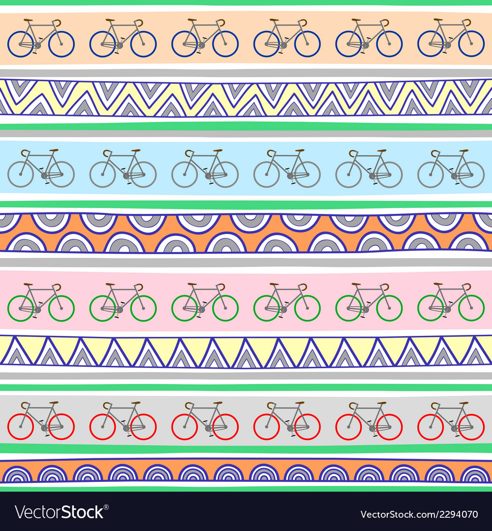 Seamless bicycle pattern background2 vector | Price: 1 Credit (USD $1)