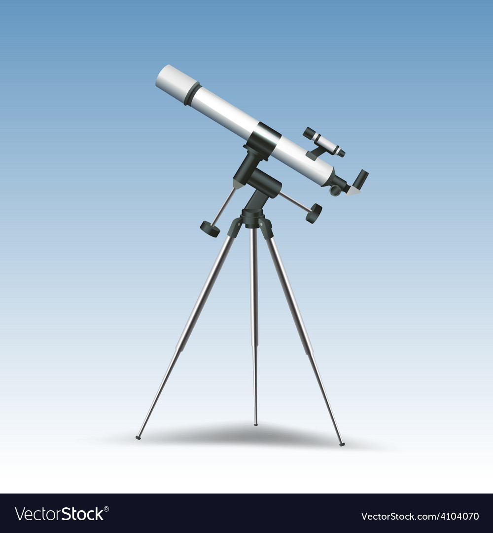 Telescope realistic vector | Price: 1 Credit (USD $1)