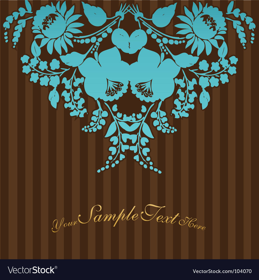 Vintage flowers with stripes vector | Price: 1 Credit (USD $1)