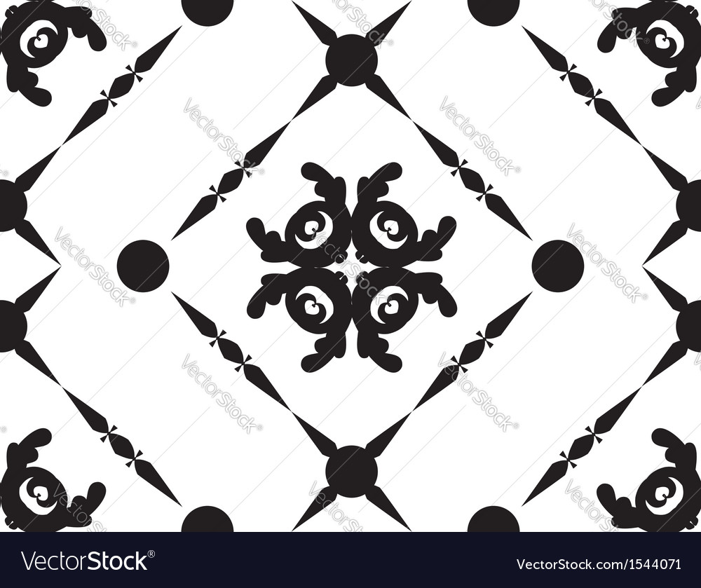 Abstract black ornament vector | Price: 1 Credit (USD $1)