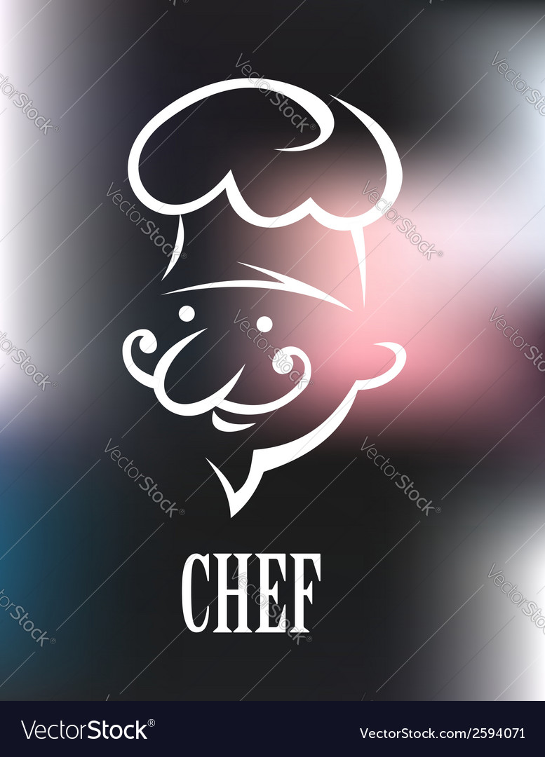 Chef icon on a shiny surface vector | Price: 1 Credit (USD $1)