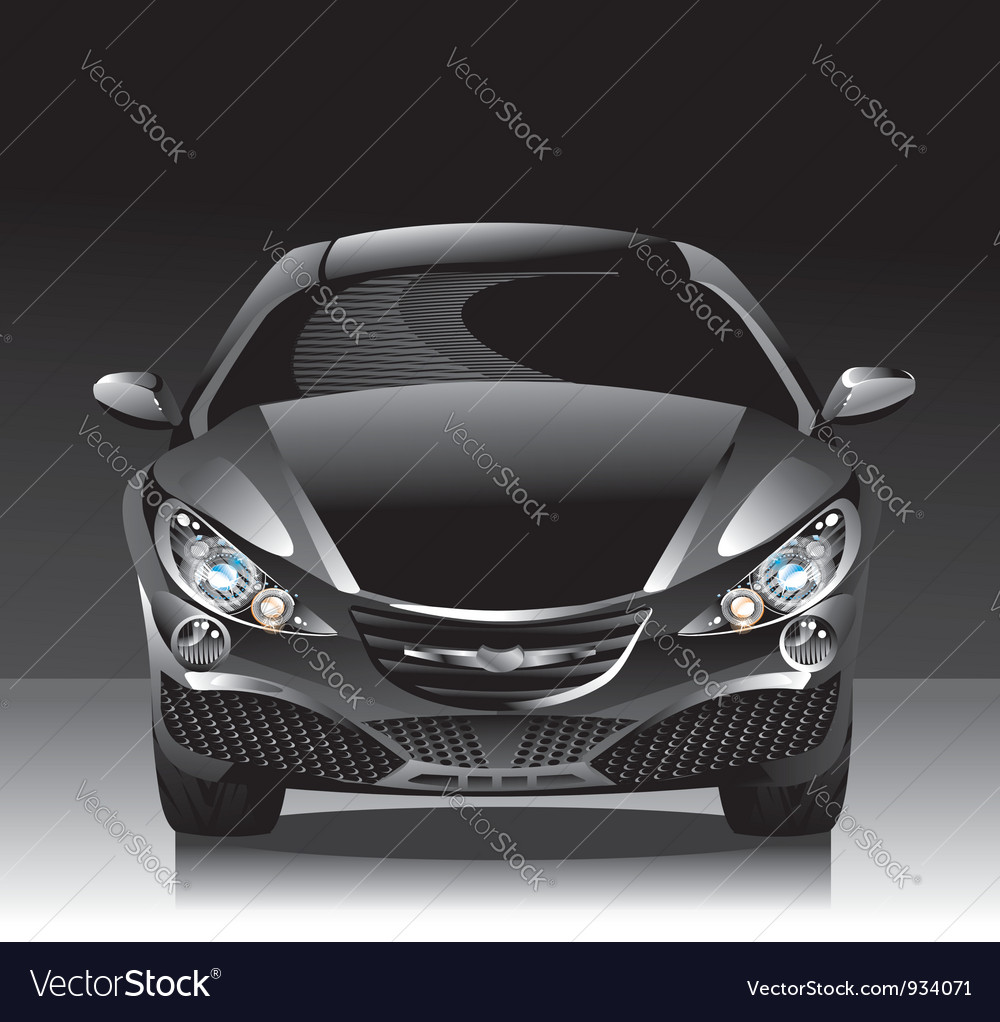 Concept car - sedan vector | Price: 1 Credit (USD $1)