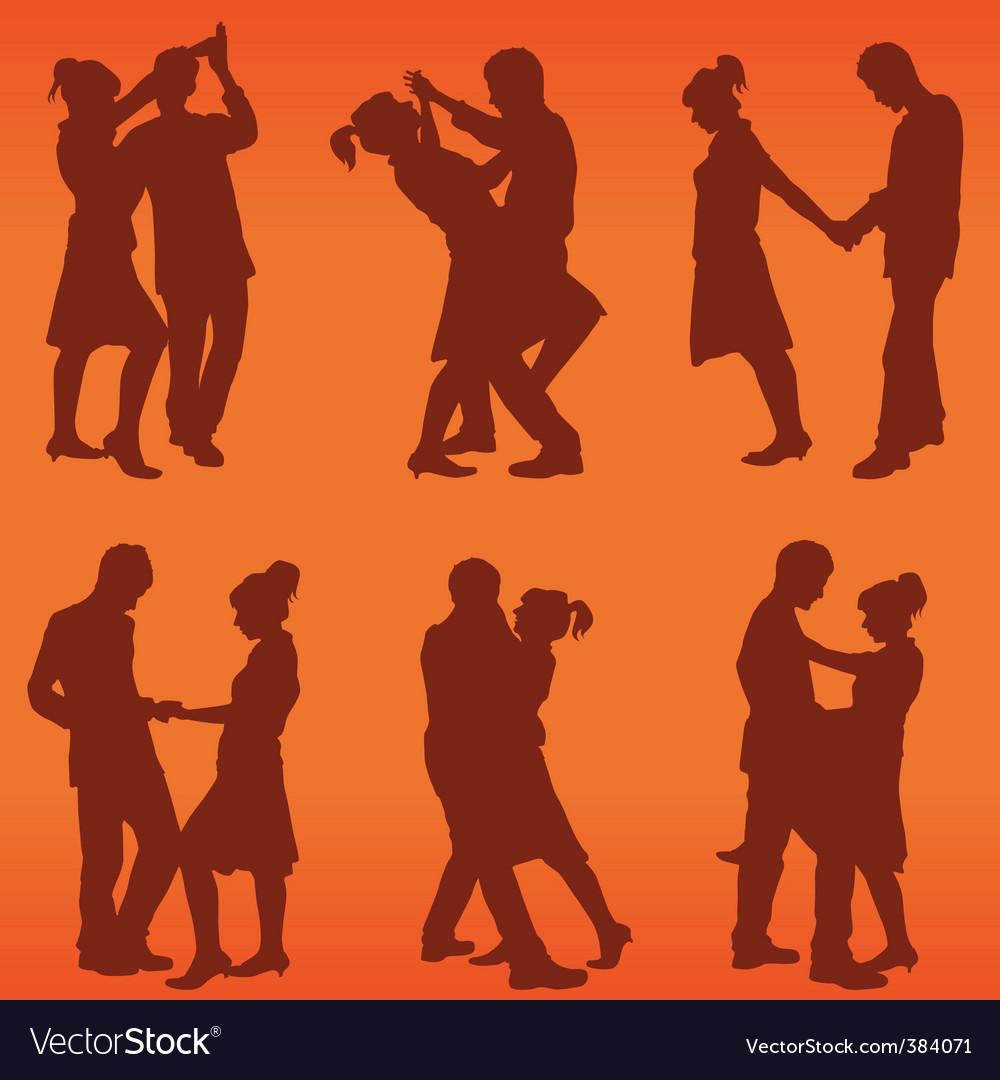 Couple dance vector | Price: 1 Credit (USD $1)