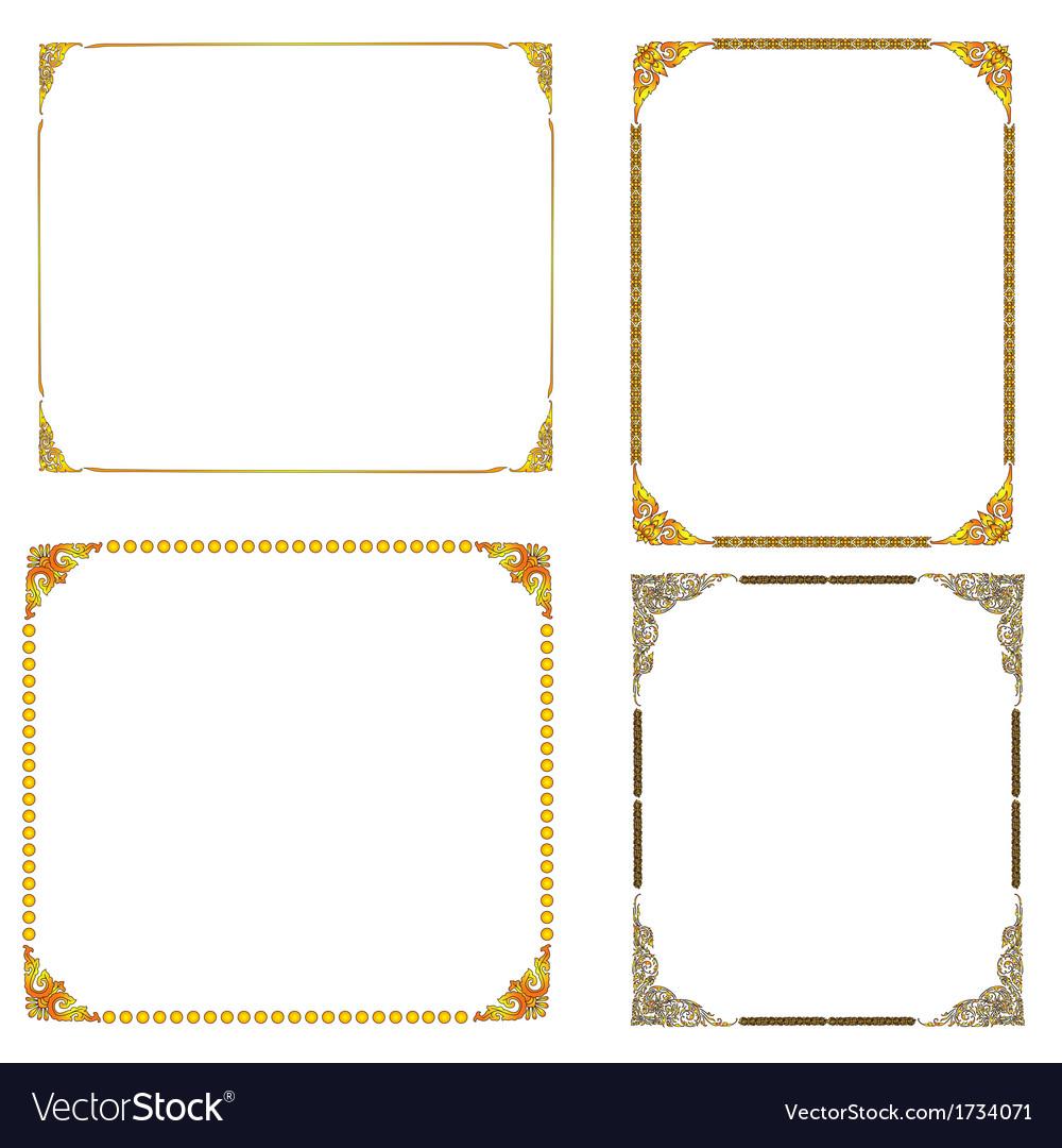 Frame lai thai vector | Price: 1 Credit (USD $1)