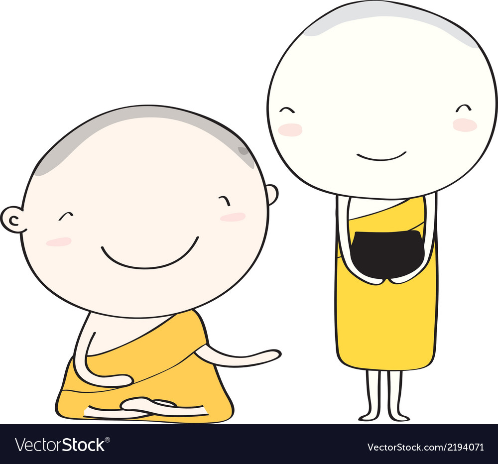 Monk thai smile vector | Price: 1 Credit (USD $1)