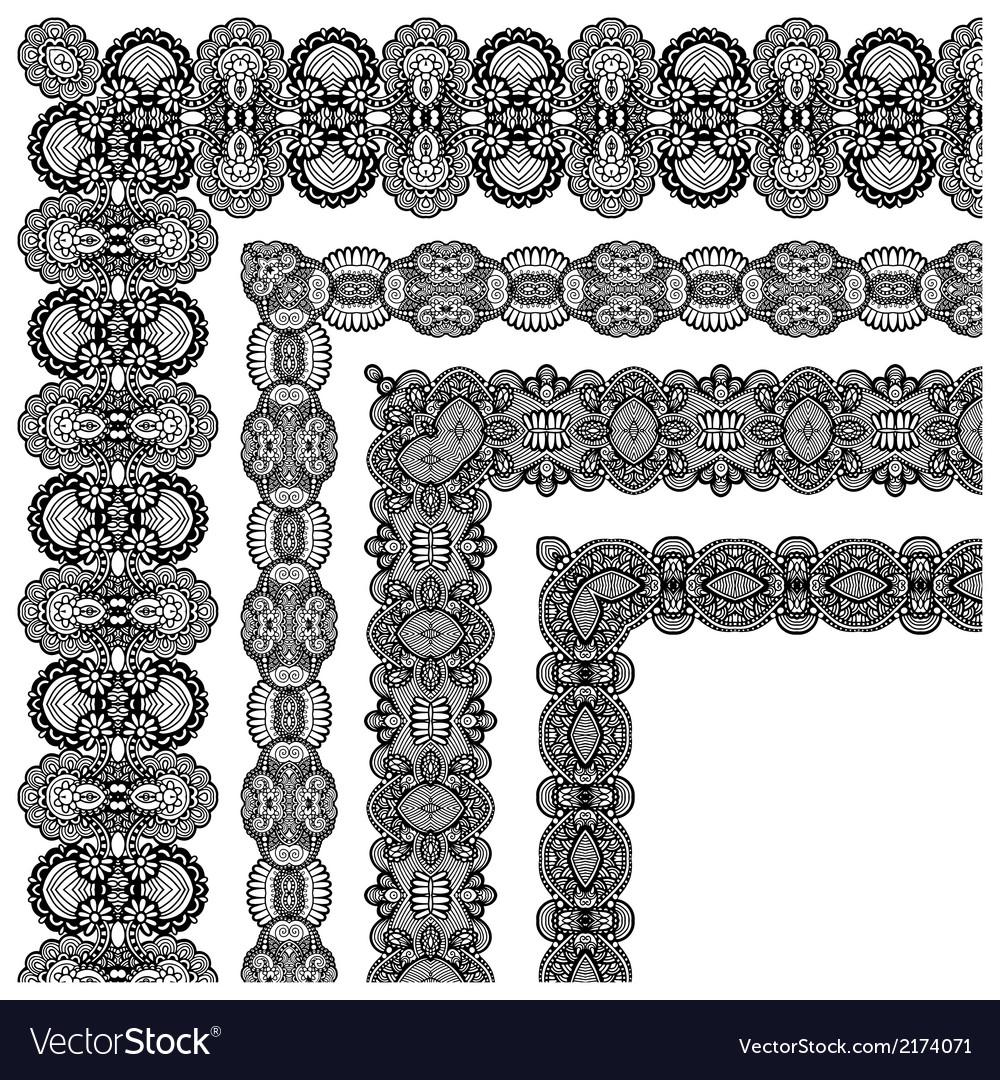 Ornamental floral vintage frame design vector | Price: 1 Credit (USD $1)