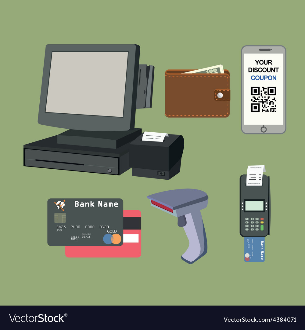 Payment flat icon set vector | Price: 1 Credit (USD $1)
