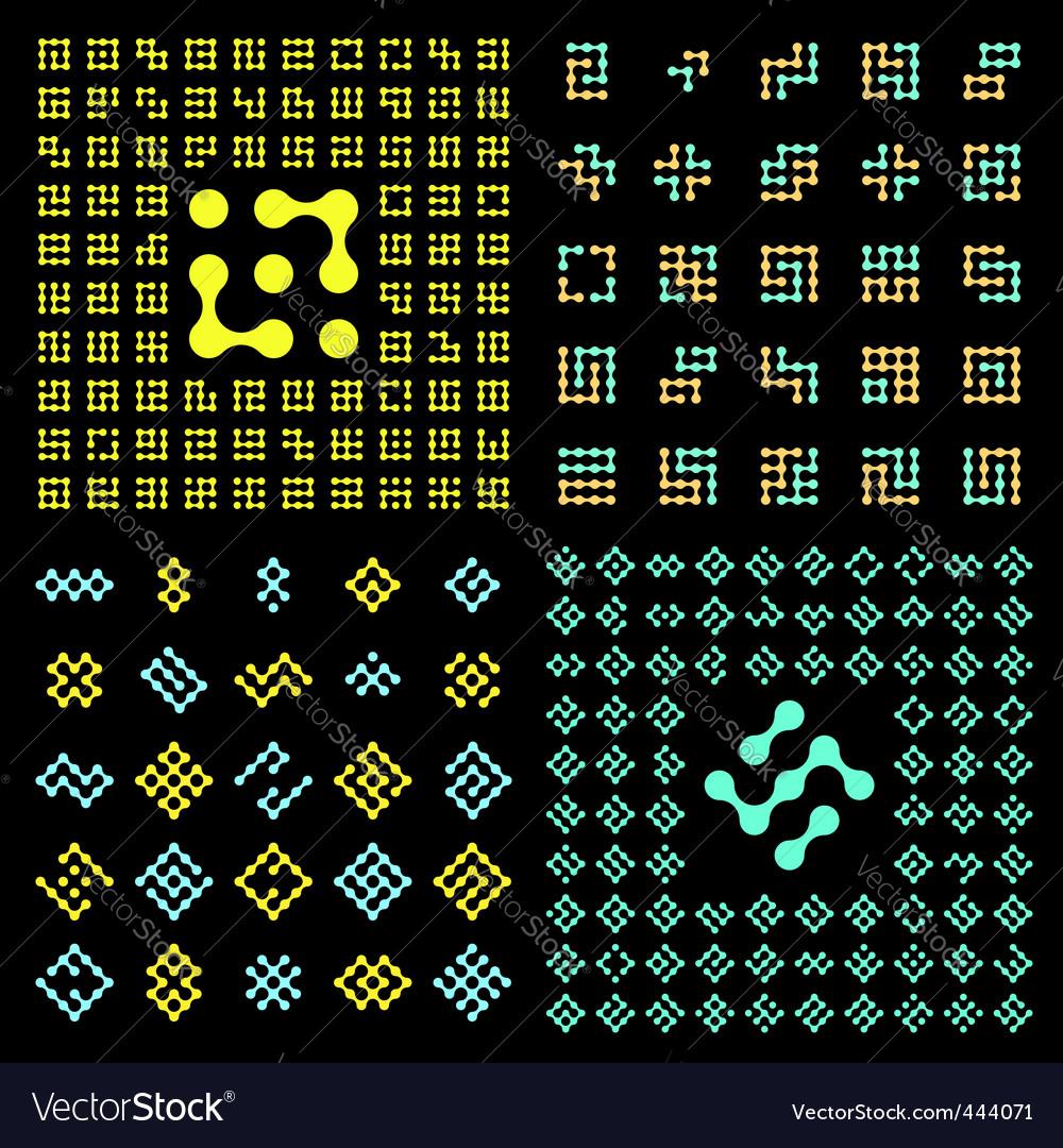 pictogram set vector | Price: 1 Credit (USD $1)