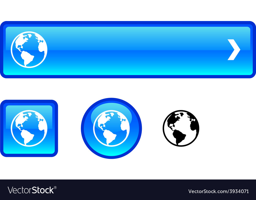 Planet button set vector | Price: 1 Credit (USD $1)