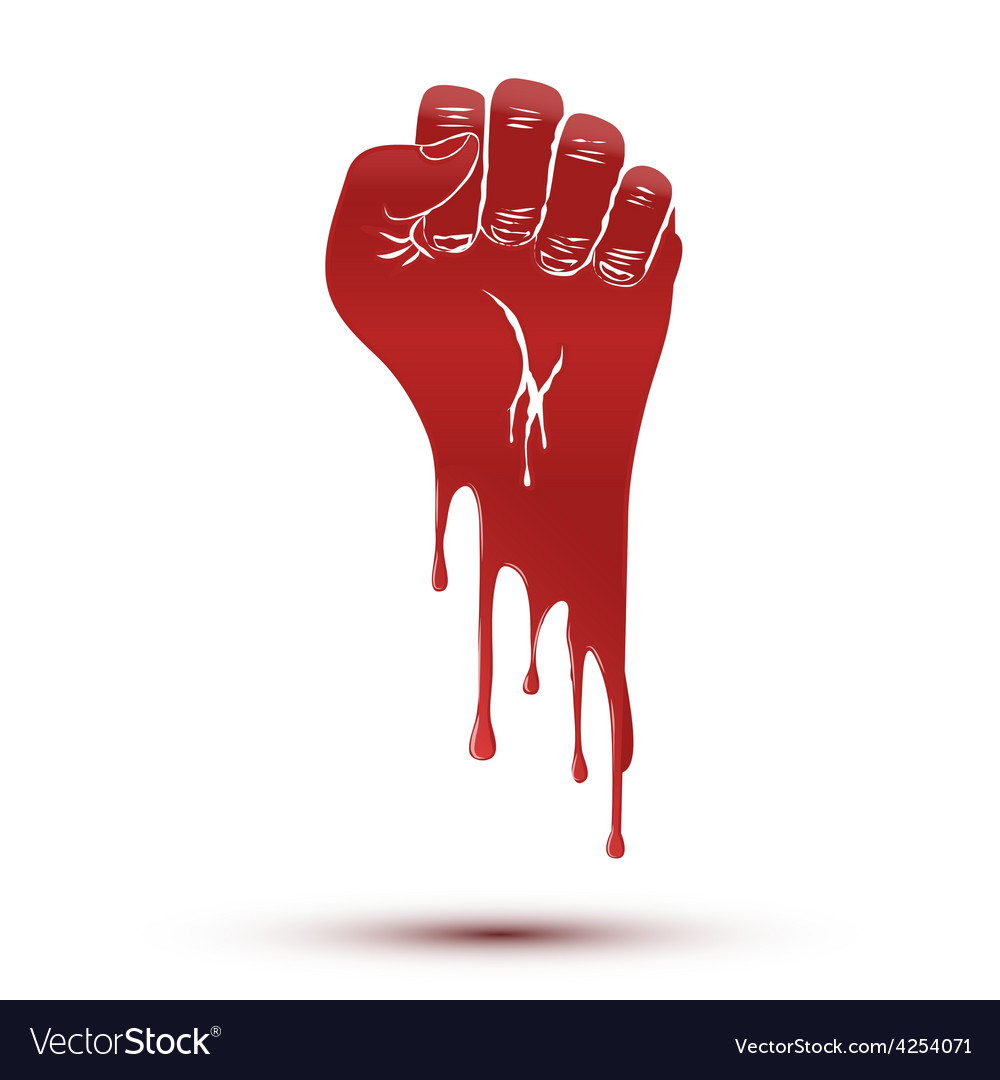 Symbol blood flow of clenched fist held in protest vector | Price: 1 Credit (USD $1)