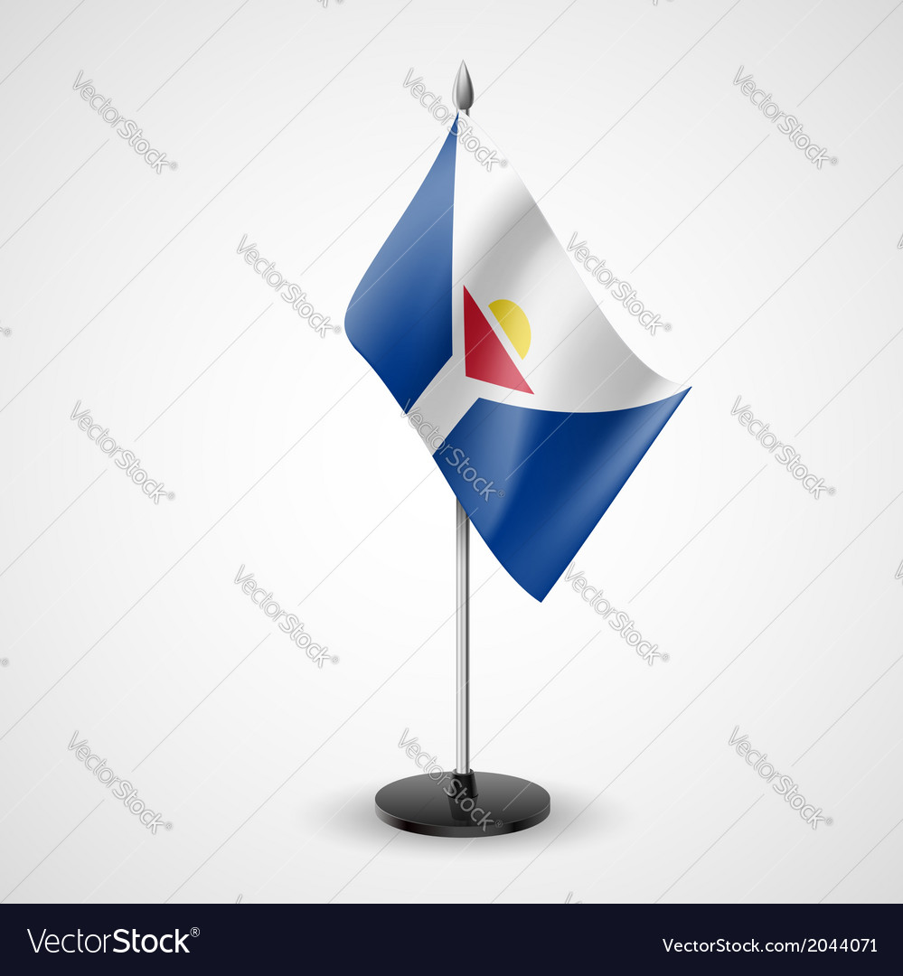 Table flag of saint martin vector | Price: 1 Credit (USD $1)