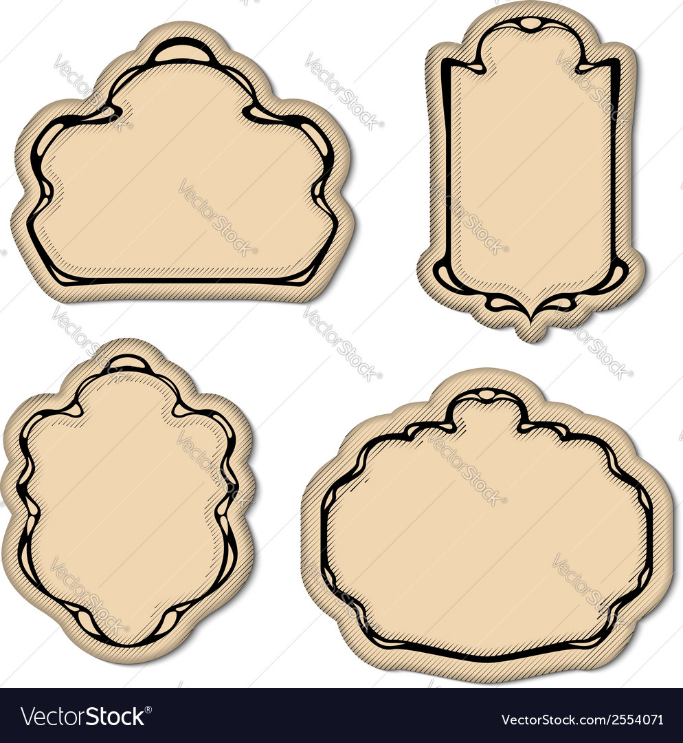 Vintage engrave art deco frame set vector | Price: 1 Credit (USD $1)