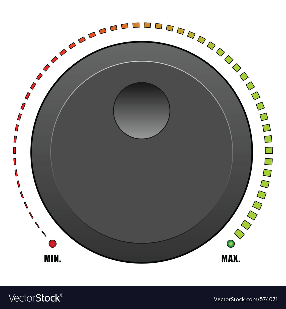Volume dial vector | Price: 1 Credit (USD $1)