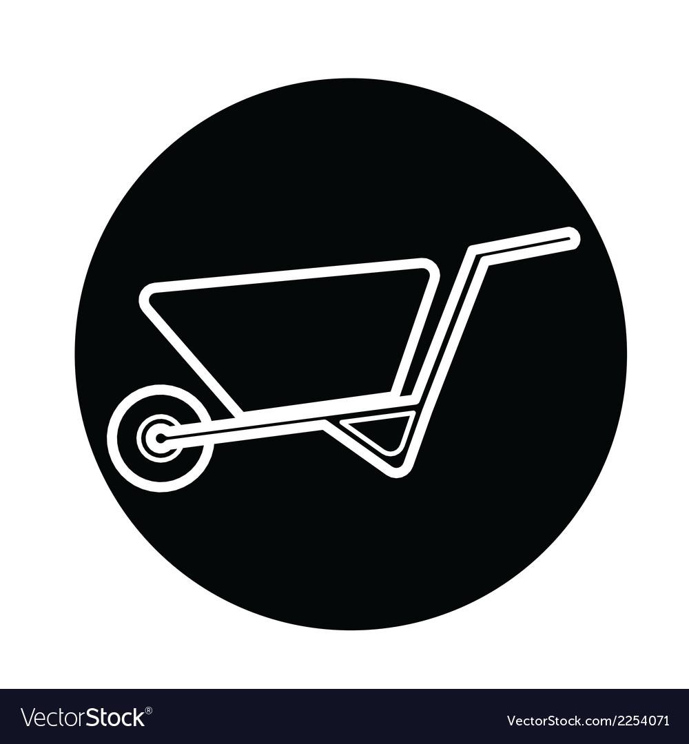 Wheelbarrow icon vector   Price: 1 Credit (USD $1)