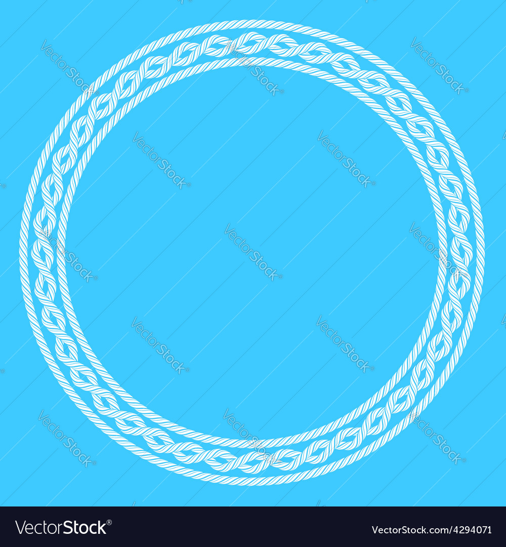 White rope decorative round frame vector | Price: 1 Credit (USD $1)