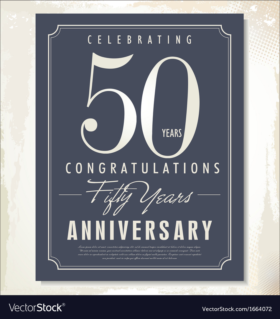 50 years anniversary background vector | Price: 1 Credit (USD $1)