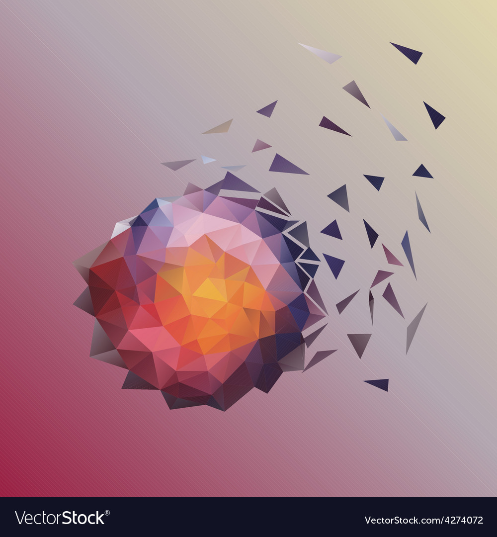 Abstract low poly design vector | Price: 1 Credit (USD $1)