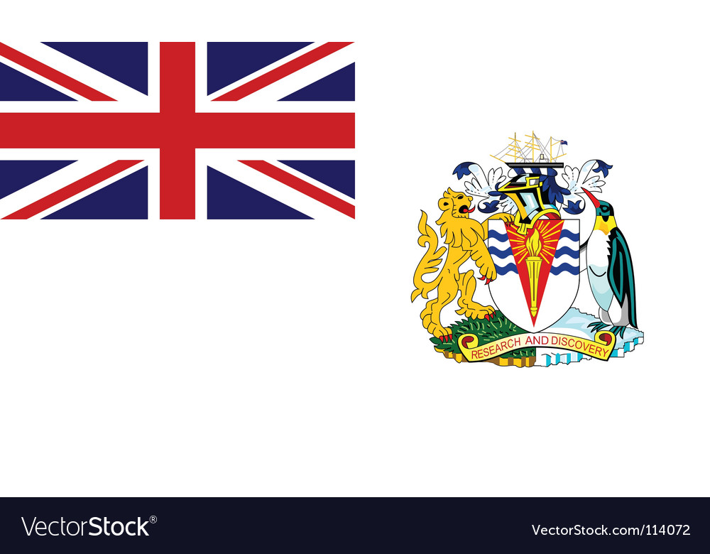 British antarctic territory flag vector | Price: 1 Credit (USD $1)