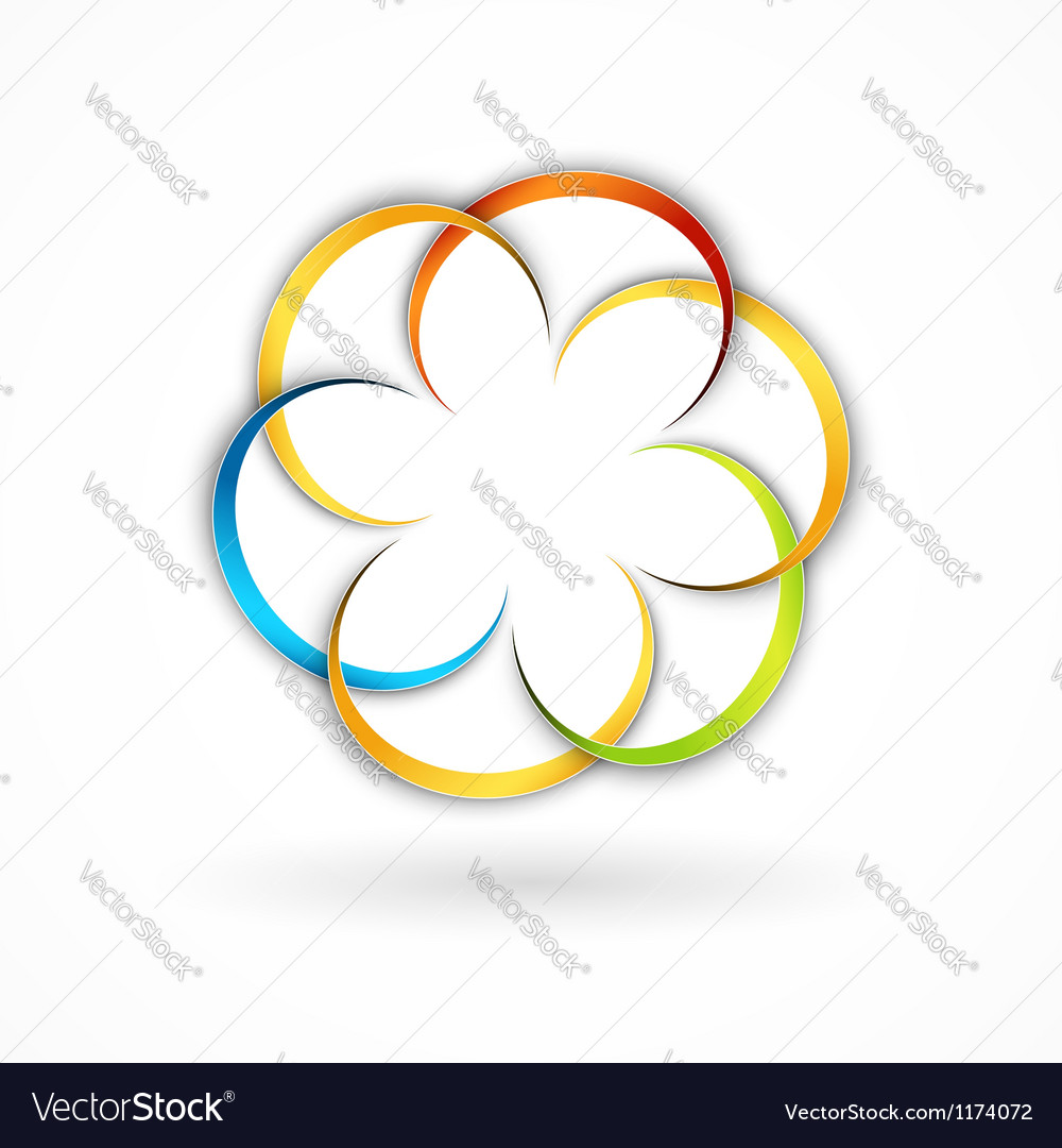 Floral sign vector | Price: 1 Credit (USD $1)