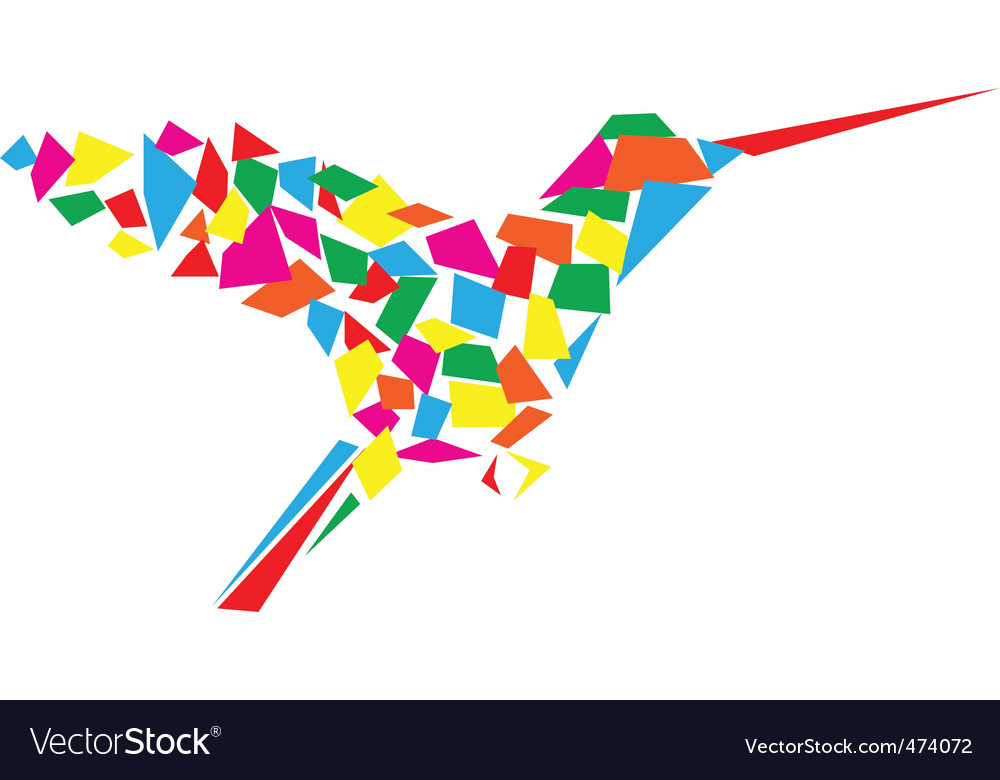 Humming bird vector | Price: 1 Credit (USD $1)