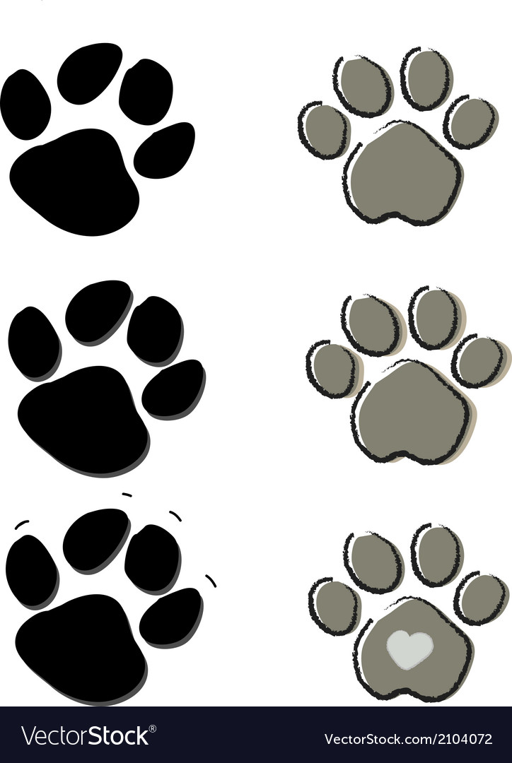 Paw vector | Price: 1 Credit (USD $1)
