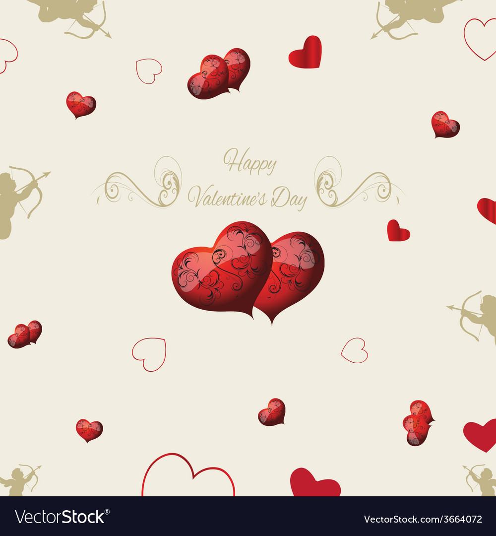 Vintage elements valentines day vector | Price: 1 Credit (USD $1)