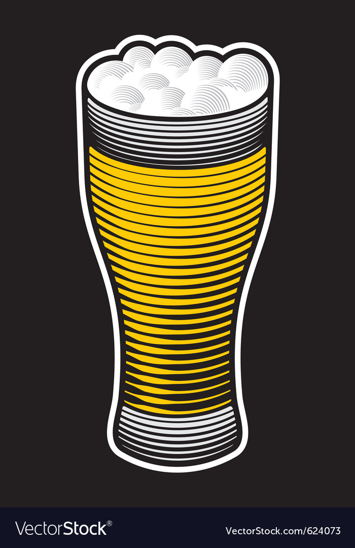 Beer pint vector | Price: 1 Credit (USD $1)