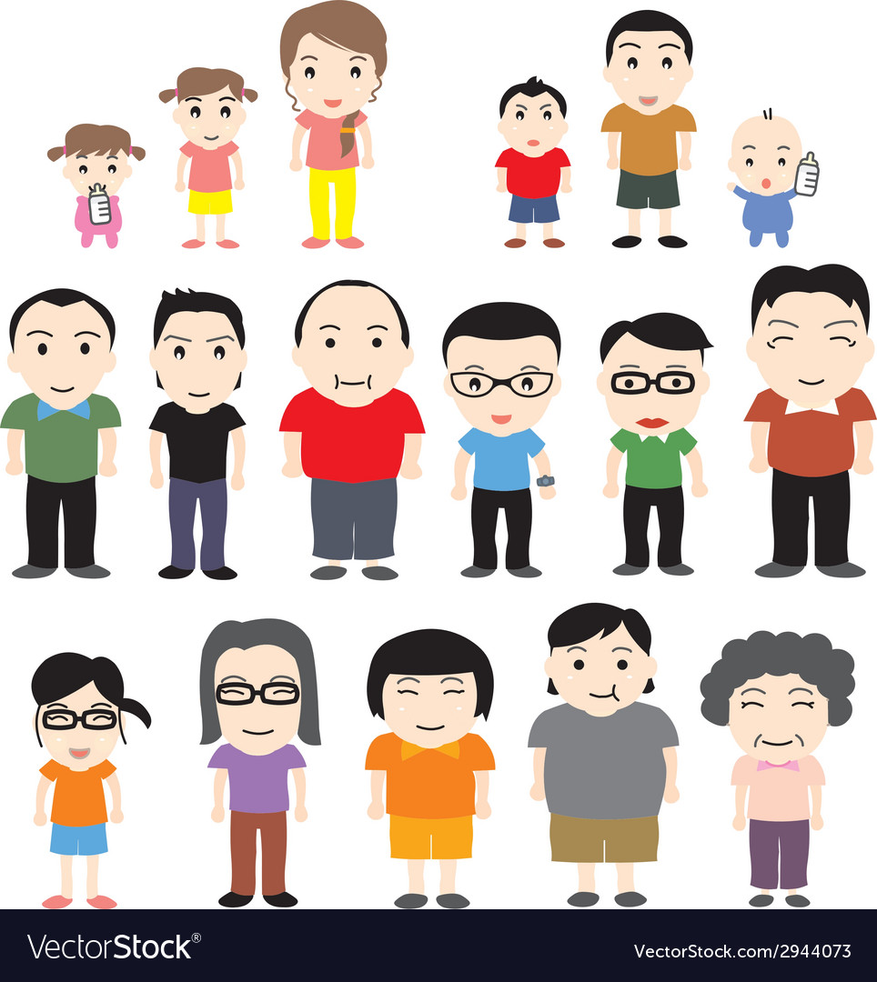China family vector | Price: 1 Credit (USD $1)