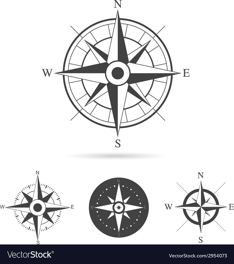 Compass rose collection vector | Price: 1 Credit (USD $1)