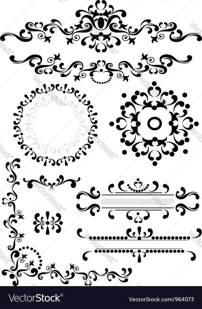 Decorative corner border frame vector | Price: 1 Credit (USD $1)