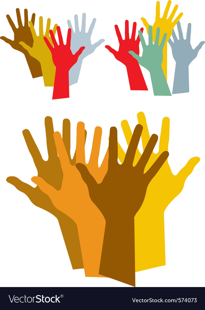 Diverse hands silhouette vector | Price: 1 Credit (USD $1)