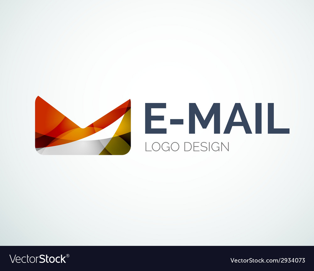 Email logo design made of color pieces vector | Price: 1 Credit (USD $1)
