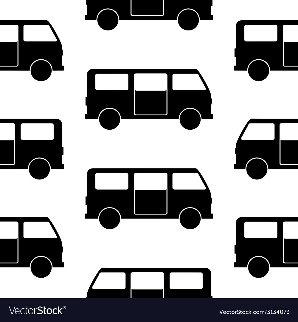 Minibus symbol seamless pattern vector | Price: 1 Credit (USD $1)