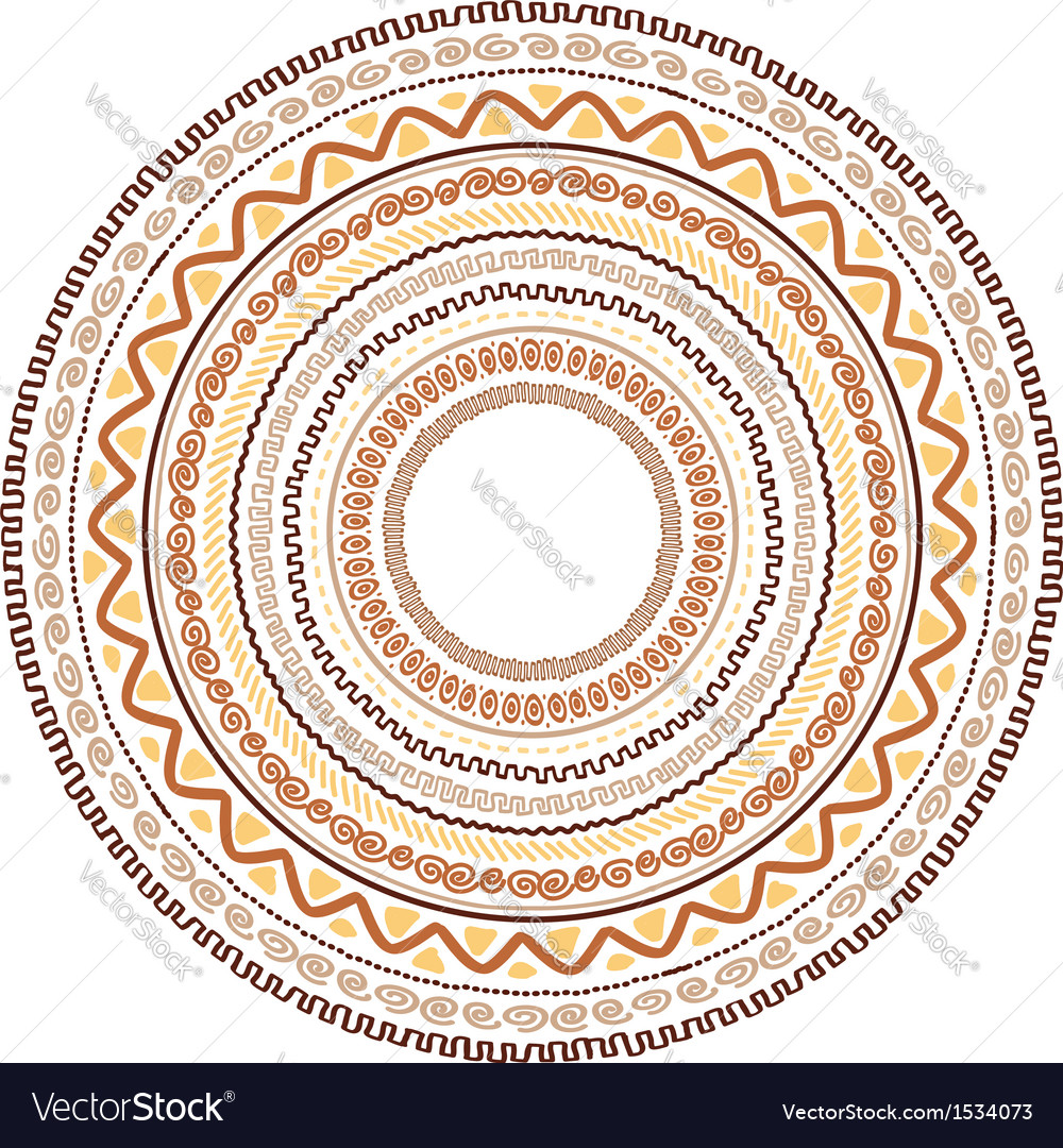 Round ornament design ethnic style vector | Price: 1 Credit (USD $1)