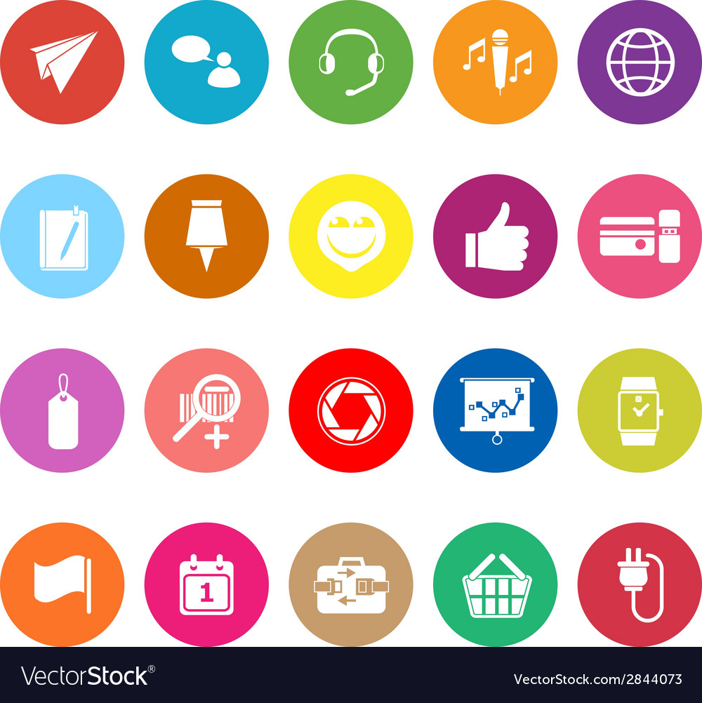 Technology gadget screen flat icons on white vector | Price: 1 Credit (USD $1)